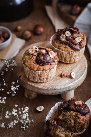 Recette Banana bread muffins à la pâte à tartiner