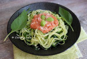 Recette Spaghetti de courgette crue à la napolitaine