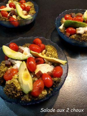 Recette Salade aux 2 choux
