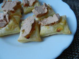 Recette Feuilletés confit d'oignons et foie gras