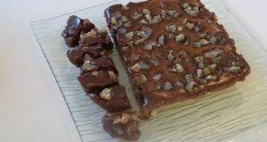 Recette 25 Carrés de Chocolat au Gingembre Confit sur un sablé de palet breton