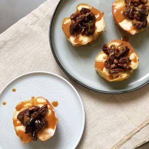 Recette Pommes au four avec pécan caramélisées & caramel d'érable