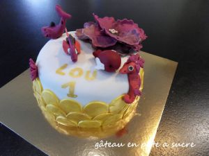 Recette Gâteau en pâte a sucre
