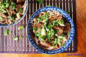 Recette Soupe chinoise boeuf et nouilles épicée