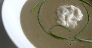 Recette Crème aux trois oignons, au foie gras