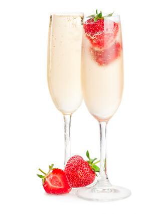 Recette Fraises au champagne