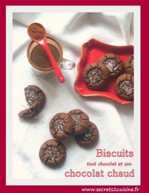 Recette Biscuits tout chocolat et leur chocolat chaud