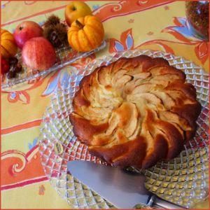 Recette Gâteau aux pommes, mascarpone et noix