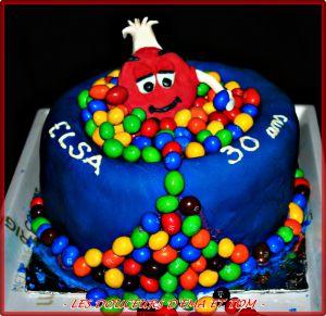 Recette Gâteau m&m's en pâte à sucre