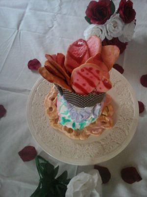 Recette Gâteau en Rose avec sirop de rose