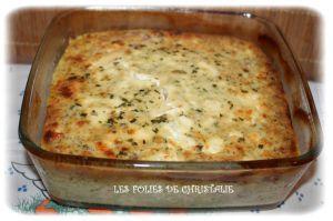 Recette Clafoutis jambon , féta , courgettes