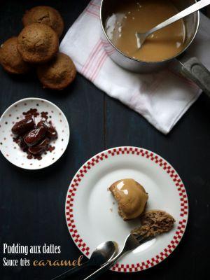 Recette Pudding aux dattes, et sa sauce très très caramel