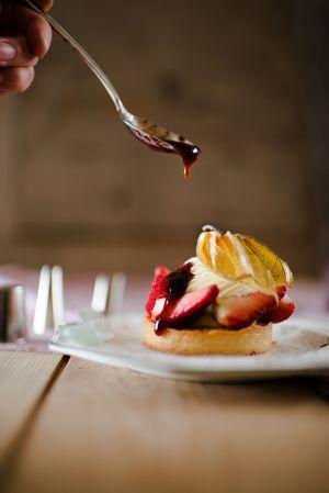 Recette Tarte à la crème et fraises