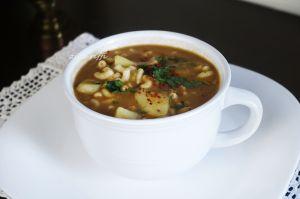 Recette Soupe de pois cassés coquillettes et paprika fort