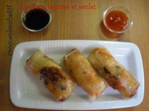 Recette Tour en cuisine (403) : nems aux legumes et surimi (pour moi aux poulet)