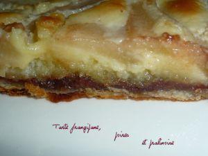 Recette Tarte frangipane, poires et pralinoise