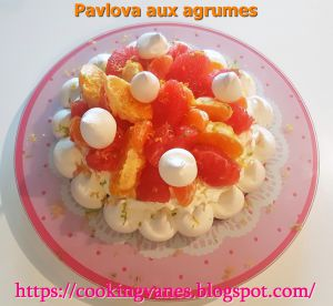 Recette Pavlova aux agrumes