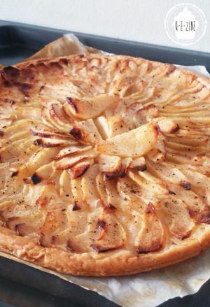 Recette Tarte fine aux pommes et aux poires