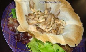 Recette Croustillant de fruits de mer aux pleurotes