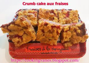 Recette Crumb cake aux fraises