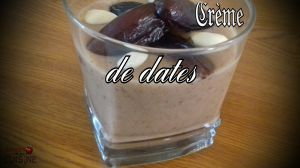 Recette Crème de dates