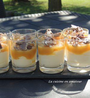 Recette Verrines de compote à la mousse mascarpone