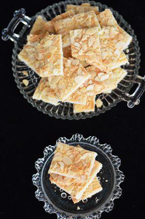 Recette Biscuits croquants aux amandes