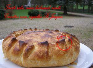 Recette Tourte pâte feuilletée, crevettes roses et coquilles St-Jacques