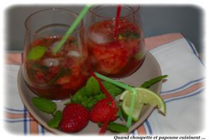 Recette Mojito fraise et basilic