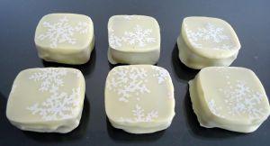 Recette Chocolats fins : blancs au praliné amande
