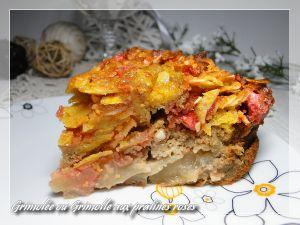 Recette Grimolée ou Grimolle aux pommes et pralines roses, version sans gluten