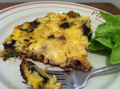 Recette Frittata broccoli, courgette et mozzarella