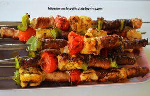 Recette Brochettes mix grill