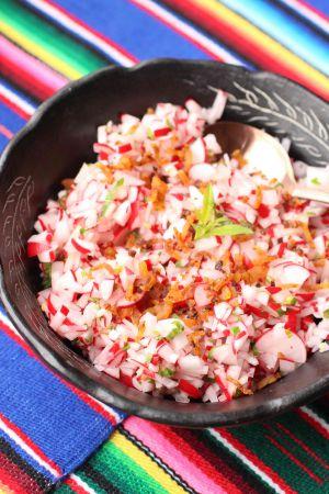 Recette Chojín: salade de radis du Guatemala