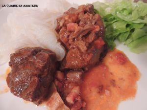 Recette Boeuf, tomate, au cookeo