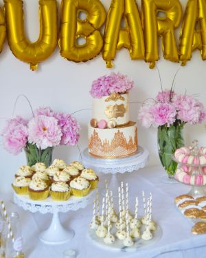 Recette Sweet Table Eid 2017 Pink, White & Gold