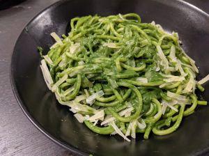 Recette Spaghettis à la crème d'épinards