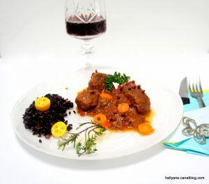 Recette ESTOUFFADE de bœuf et riz noir de Camargue, recette Provençale