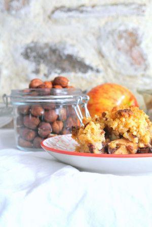 Recette Crumble pommes-chocolat-noisettes