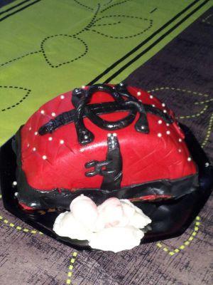Recette Gâteau sac à main en pâte à sucre