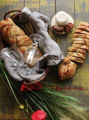 Recette Pain à la farine de maïs et chorizo