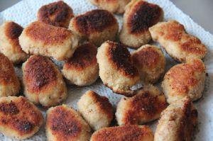 Recette Nuggets de poulet, parmesan, basilic maison