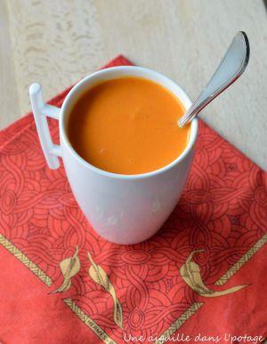 Recette Soupe aux deux poivrons