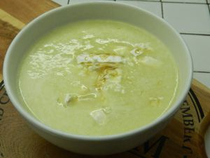 Recette {Soupe} Soupe de courgettes, chèvre et miel