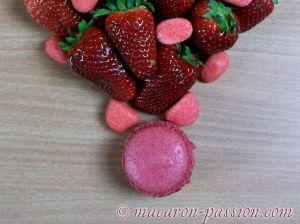 Recette Macarons fraise Tagada et fraise fruit