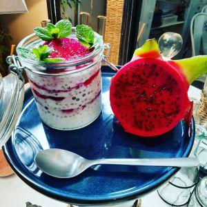 Recette Perles du japon au lait de coco et pitaya rouge