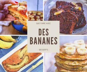 Recette Meilleures recettes de desserts à la banane