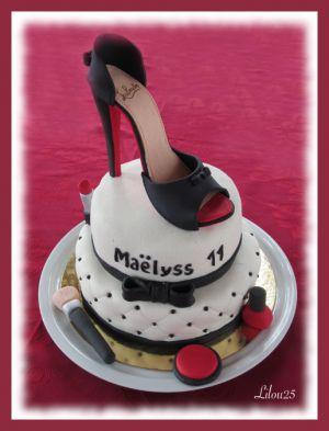 Recette Gâteau escarpin Louboutin et maquillage