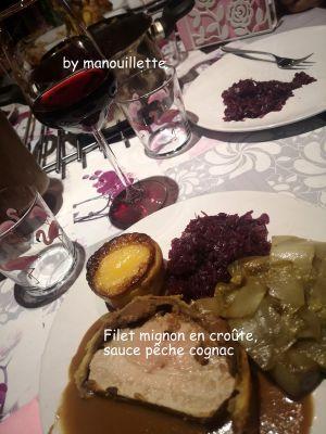 Recette Filet mignon en croûte, sauce pêche cognac