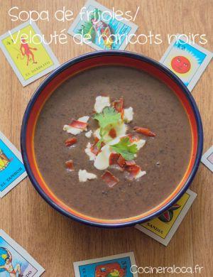 Recette Velouté de haricots noirs à la mexicaine
